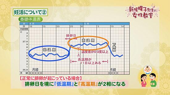 グラフ 妊娠 基礎体温