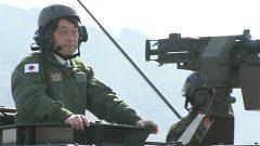 小野寺防衛相 北熊本駐屯地を視察