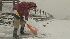 山地で積雪 23日も大雪の恐れ