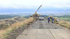 阿蘇市道 仙酔峡線の復旧状況公開