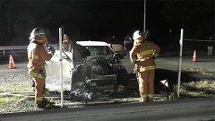 熊本市南区で車両火災3件 不審火か