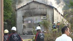 宇城市で倉庫1棟全焼 けが人なし