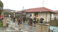 警察官職員宿舎が全焼 けが人なし